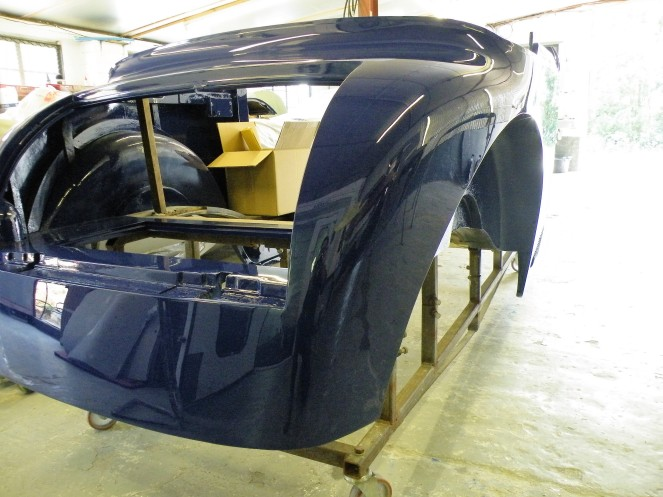 Rear sction of body during paint process