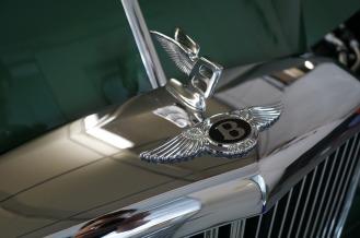 The iconic Bentley badge
